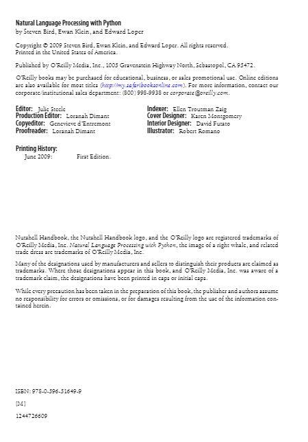 Natural Language Processing with Python PDF电子版 下载插图(2)