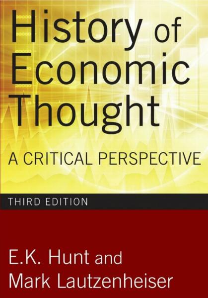 History of Economic Thought A Critical Perspective.